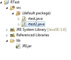 R and Java – JRI using eclipse on 64 bit machines