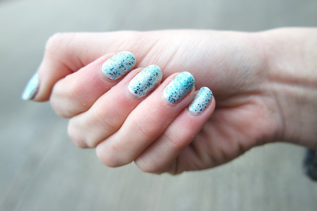 BarryM Silk Effects Pearl and Aqua Glitter