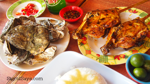 Bacolod chicken inasal and talaba