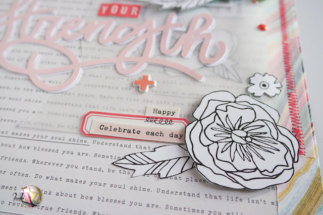 scrapbooking layout | your strength by kushi per Scrappiamo Insieme