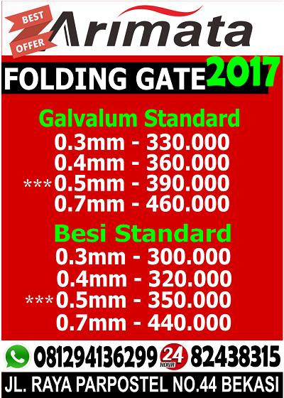 gambar daftar harga folding gate