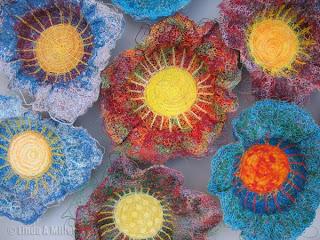 Fiber Bowls by Linda A. Miller