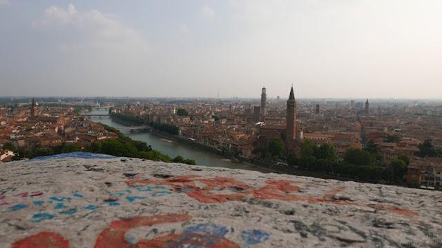 Panorama di Verona da Castel San Pietro