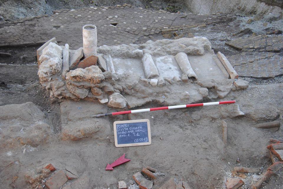 Enterramiento realizado después de la erupción de 79 d.C., Civita Giuliana, Pompeya. Foto: Parco Archeologico di Pompei.