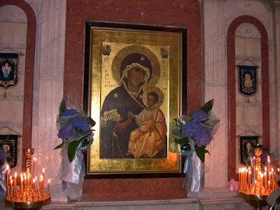 Παναγίας Πορταΐτισσας των Ιβήρων στο Ντνιπροπετρόφσκ   της Ουκρανίας. Το αντίγραφο Κατασκευάστηκε στο Άγιον Όρος.