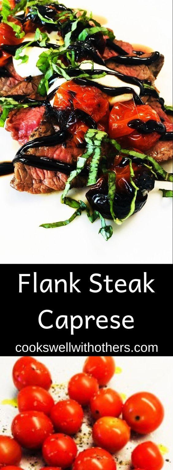 Flank Steak Caprese