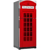 Decora con vinilos la nevera - Cabina de teléfono