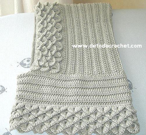 Cuello con capucha para tejer con ganchillo - Free Crochet Patterns