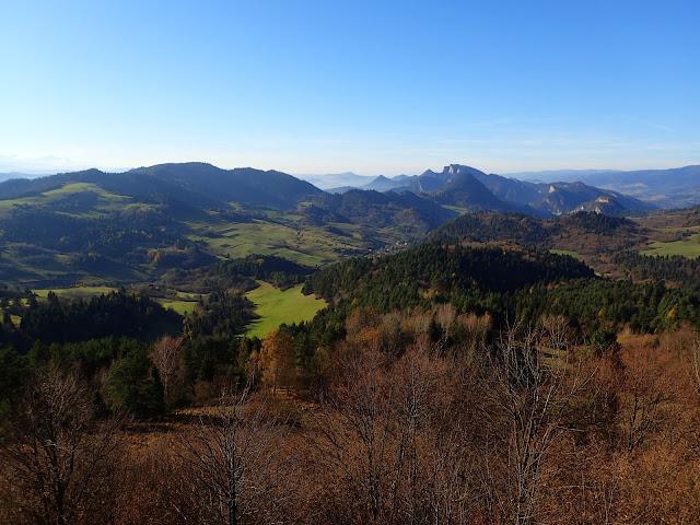 Listopadowa panorama z Wysokiego Wierchu