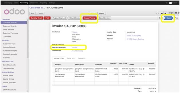 Odoo 8 Customized Module \u0027Invoice Picking Directly\u0027 - Pragtech Blogger