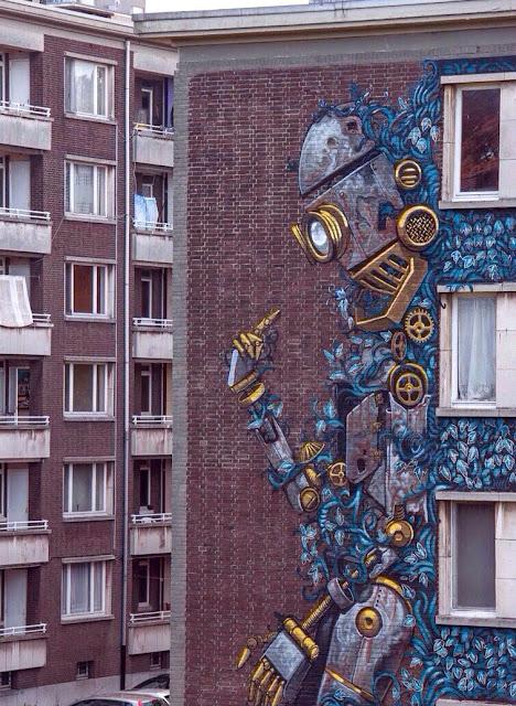 Street Art By Pixel Pancho For Day On Urban Art Festival In Antwerp, Belgium. 4