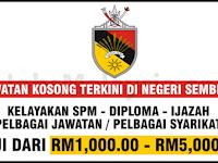 Pengambilan Jawatan Kosong Terbuka Di Negeri Sembilan - Gaji RM1,000 - RM5,000