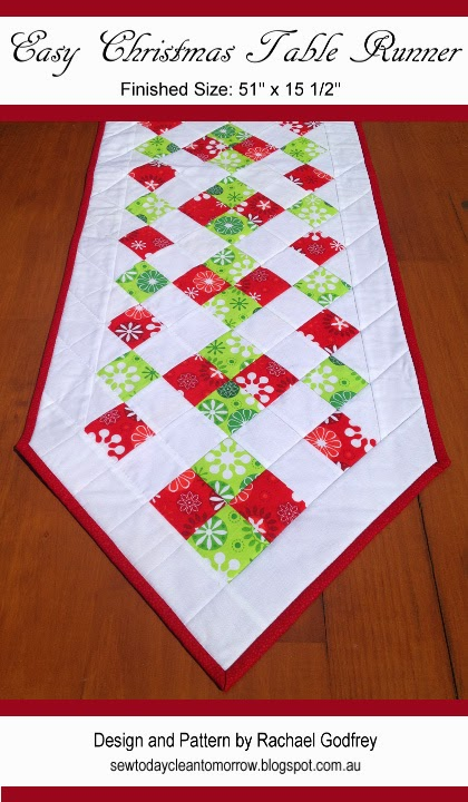 Easy Christmas Table Runner Pattern