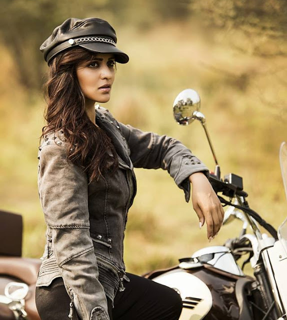 Priyanka Sarkar in Bike