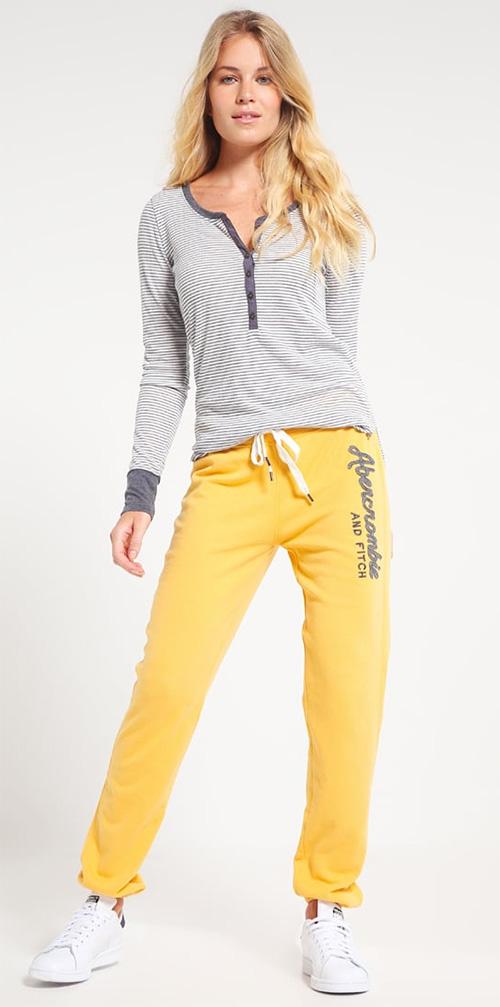 Pantalon de survêtement femme jaune Abercrombie & Fitch