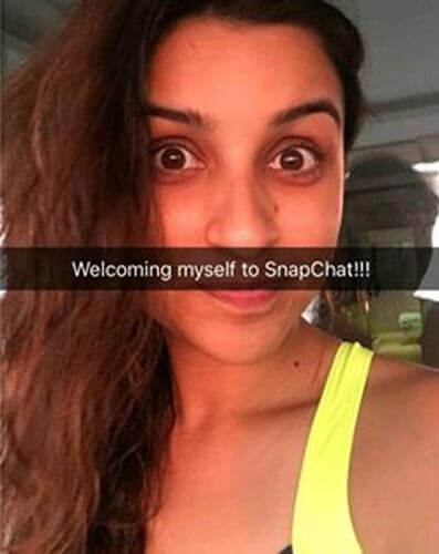 Parineeti Chopra new snapchat photo