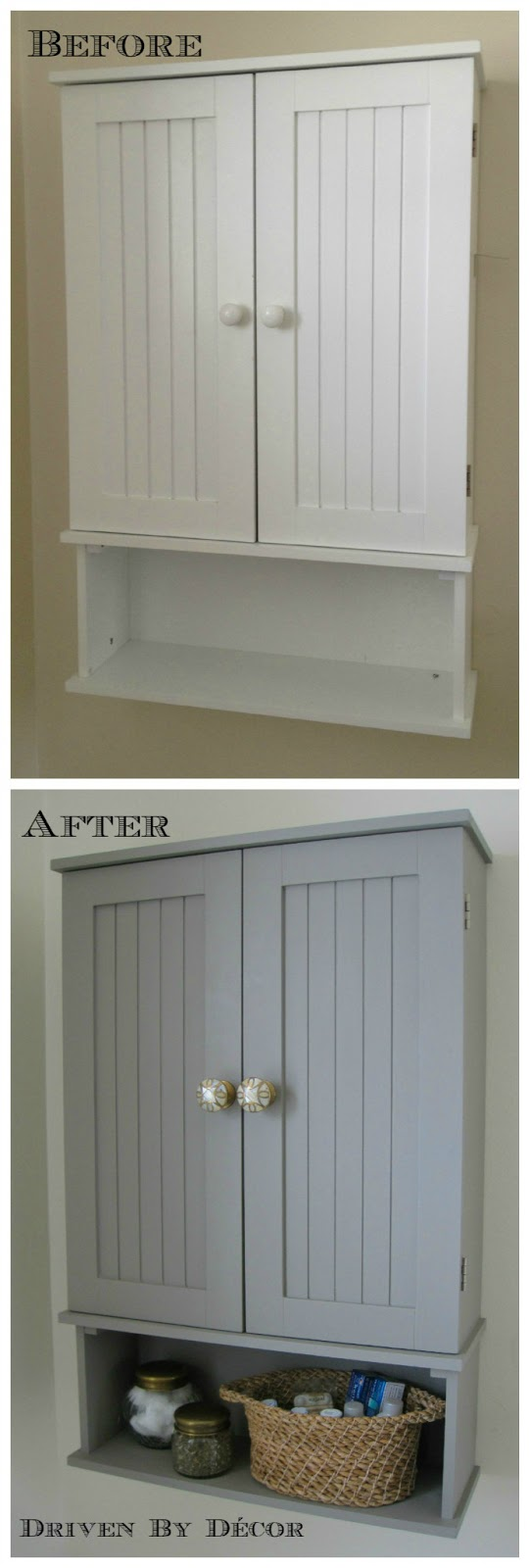 Annie Sloan Chalk Paint Bathroom Cabinet Makeover | Driven ...