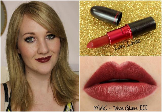 MAC Viva Glam III lipstick swatch
