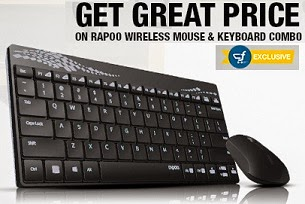 Rapoo Wireless Keyboard & Mouse Combo: Extra Rs.50 Off – starts Rs.449 @ Flipkart