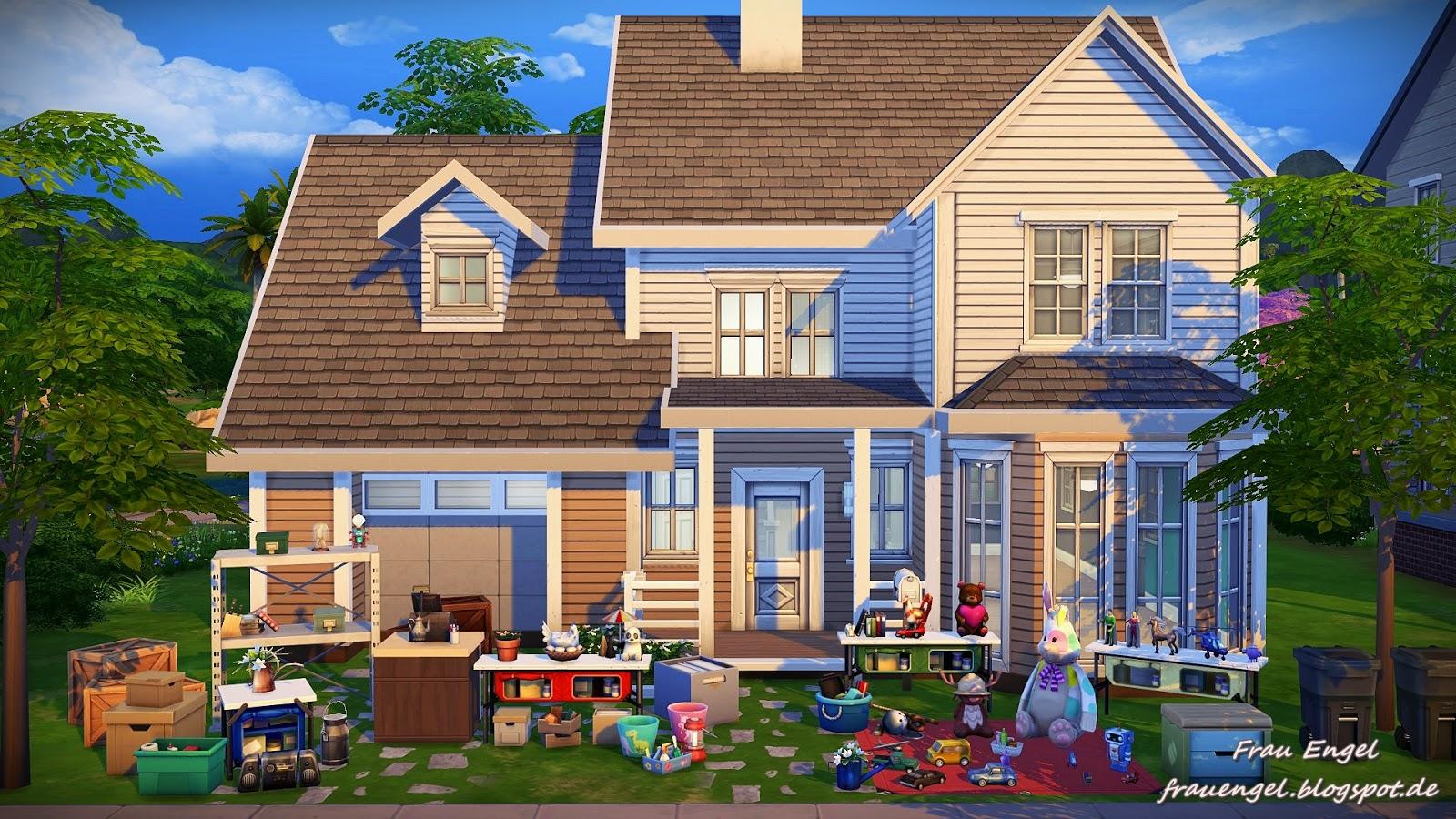 Frau engel ts4 garage sale no cc for Sims 4 garage