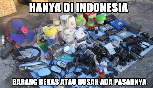 Pasar Khusus Barang Bekas Hanya di Indonesia
