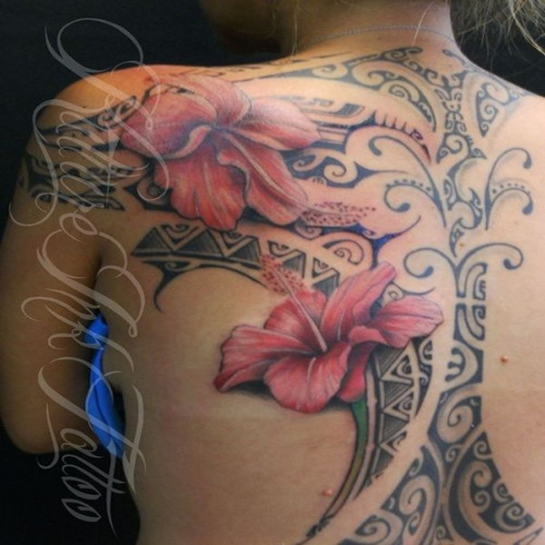 Lovely hibiscus flower tattoo your body