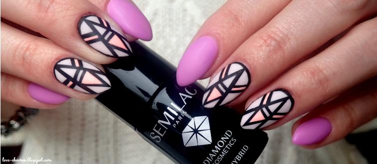 Semilac geometryczny manicure