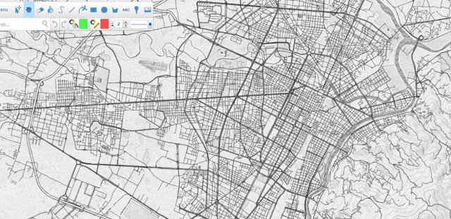 Mapas Rol Mapa de ciudad a lapiz 1