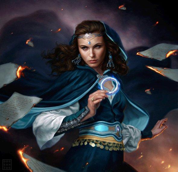 Dan dos Santos deviantart pinturas óleo fantasia ficção mulheres capas livros