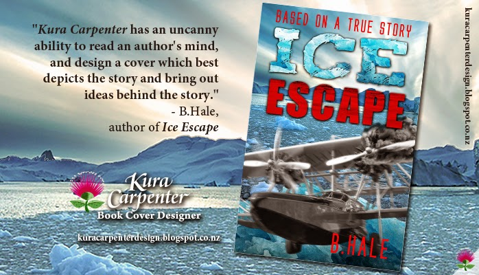 """Ice Escape"" author: B.Hale, cover designer: Kura Carpenter"