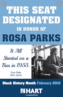 HART is designating a seat for Rosa Parks throughout Feb.
