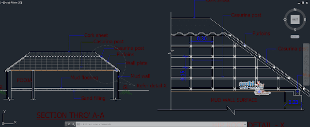 Rural study in AutoCAD