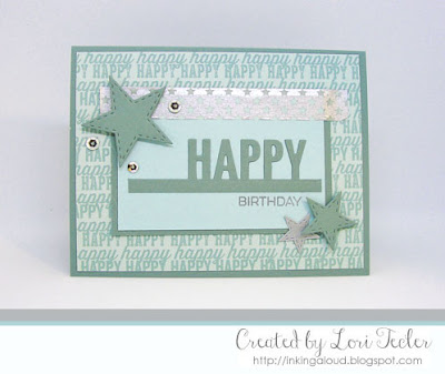 Happy card-designed by Lori Tecler/Inking Aloud-stamps from My Favorite Things