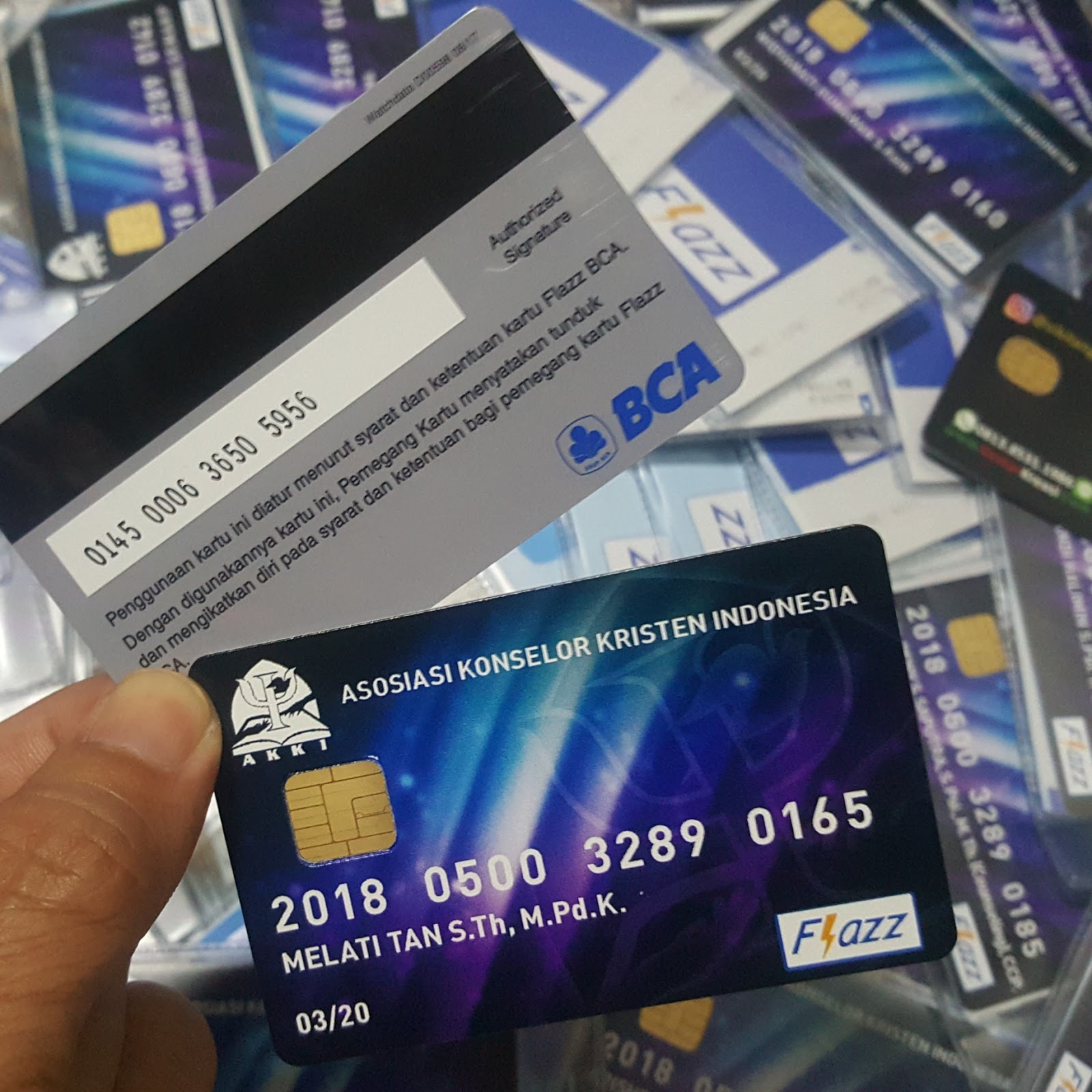 Hasil Produksi Custom Sikilang Shop Jasa Cetak Emoney Kartu E Money Toll Flazz Print Bca
