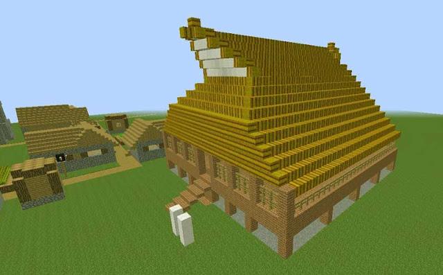 Gambar Desain rumah adat Maluku Rumah Baileo