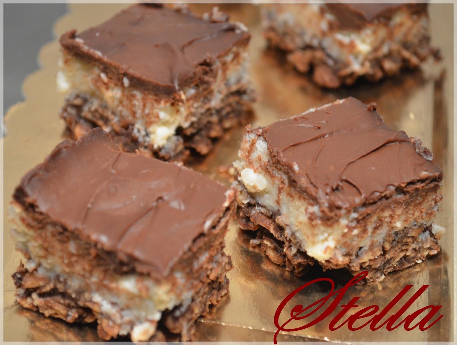 Il Blog Di Stella Quadrotti Cioccolato Fondente Cocco E Riso Soffiato