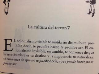 """Cuento """"La cultura del terror 7"""" de El libro de los abrazos de Eduardo Galeano."""