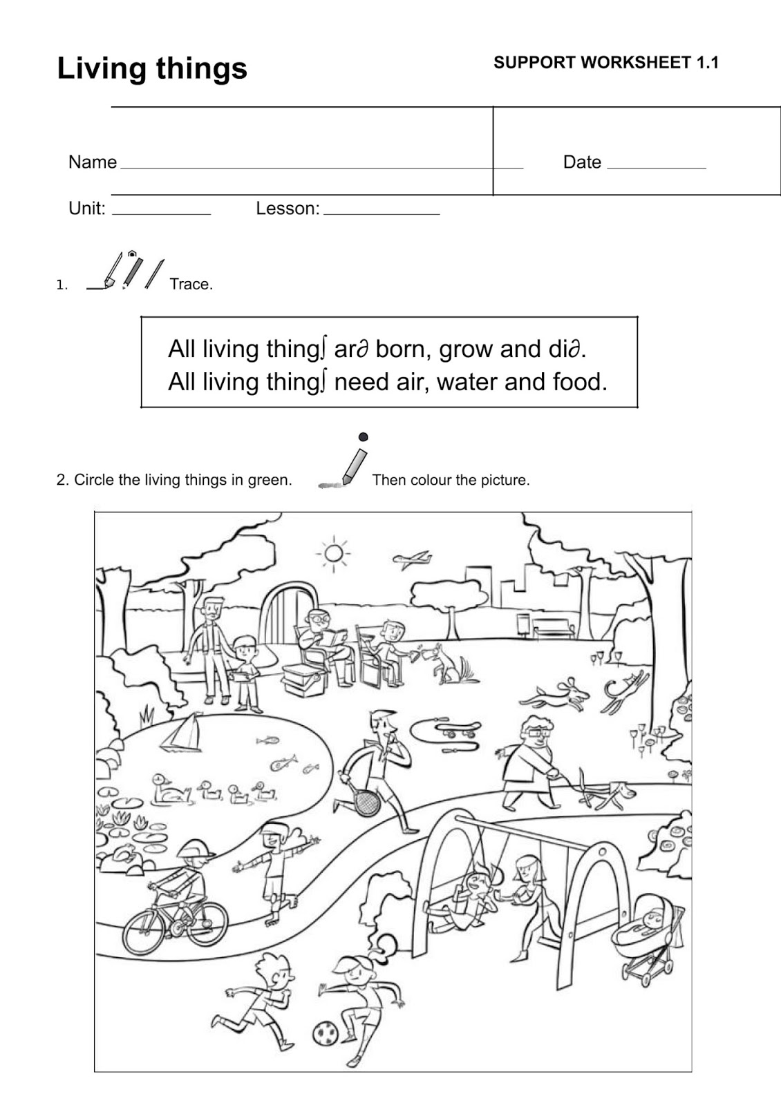Natural Science Worksheet