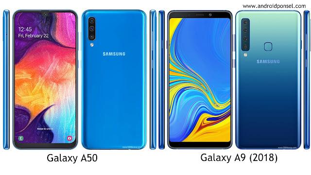 Perbandingan Spesifikasi Samsung Galaxy A50 dan Galaxy A9 (2018), Lengkap!