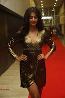 Pooja Hegde looks glamarous in deep neck sleevless short tight golden gown at Duvvada Jagannadham thank you meet function 015.JPG