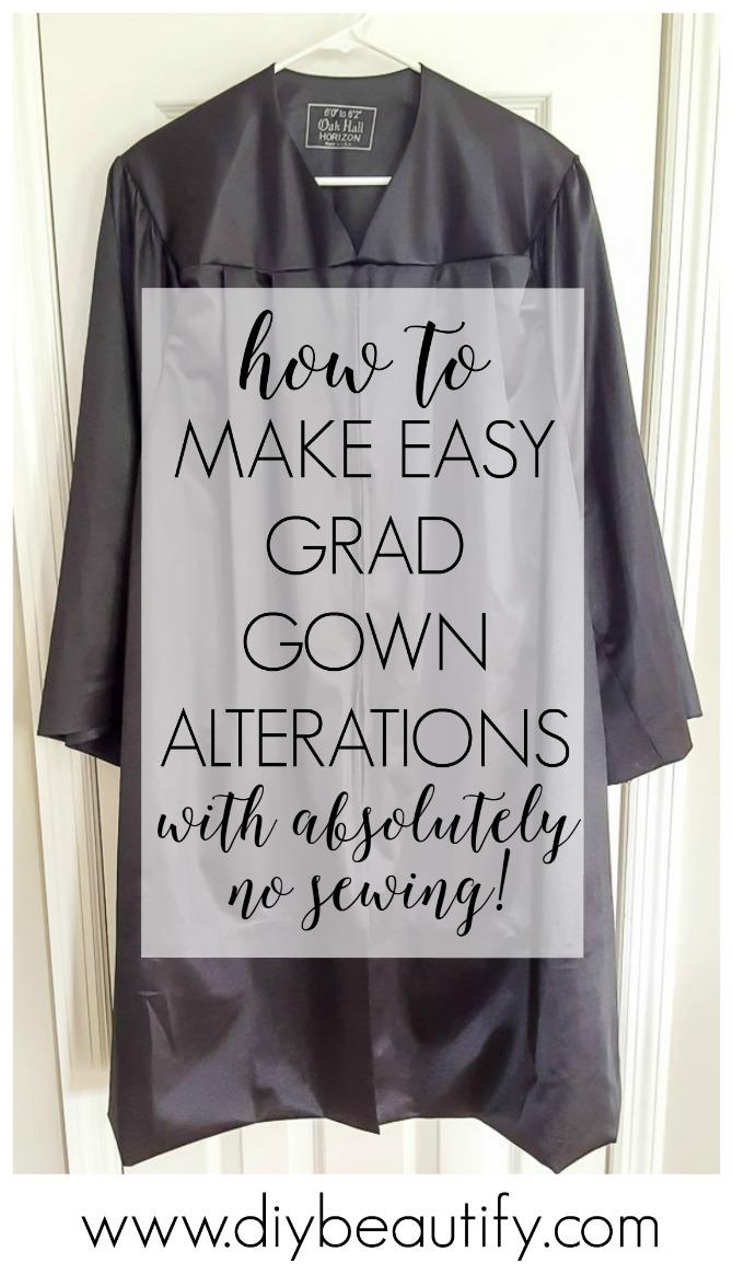 no-sew grad gown alterations