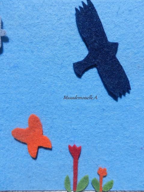 || Activité/DIY : Tableau en feutrine, dans le jardin