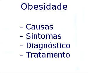 Obesidade causas sintomas diagnóstico tratamento prevenção riscos complicações