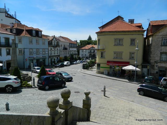 Praça principal de Seia, Serra da Estrela, Portugal