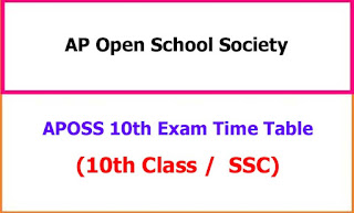 APOSS 10th Time Table 2021