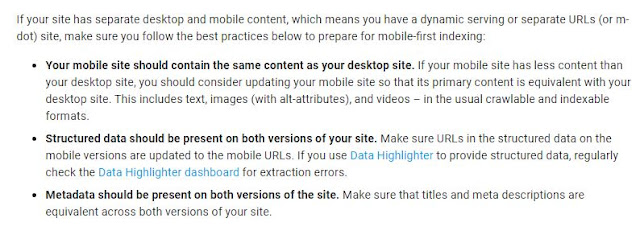Best Practice To Mobile First Indexing