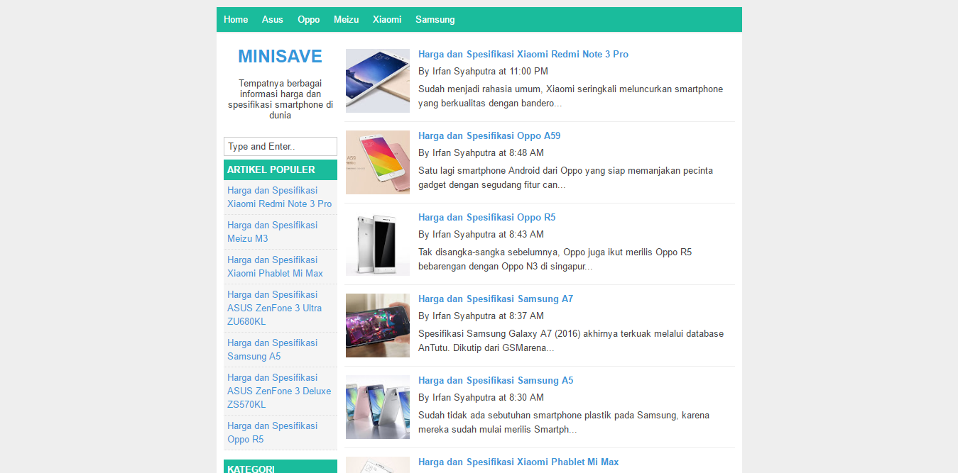 MiniSave Blogger Template