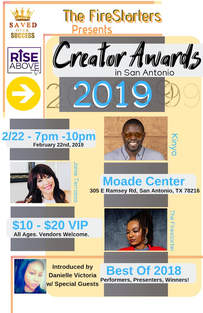 2019 Creator Awards Flyer