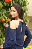 Poojita Super Cute Smile in Blue Top black Trousers at Darsakudu press meet ~ Celebrities Galleries 093.JPG