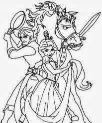tangled coloring pages maximus ticket - photo#25